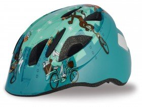 Teal Cats on Bikes