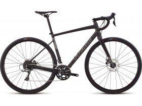 Specialized Women's Diverge E5 2019 Adventure Road Bike in Satin Black and Charcoal