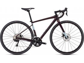 Specialized Women's Diverge E5 Comp 2019 Adventure Road Bike in Gloss Cast Berry, Storm and Ice Blue