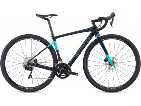 Specialized Women's Diverge Sport 2019 Adventure Road Bike in Gloss Teal Tint, Acid Mint and Black