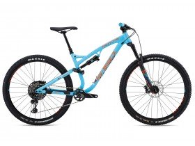 Whyte S-150 S 2018 Trail Mountain Bike in Denim Blue and Orange