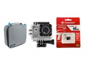 Silverlabel Focus Action Camera 1080P Bundle