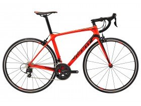 Giant TCR Advanced 2 2018 Road Bike in Red and Black