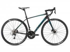 Liv Avail SL 1 Disc 2018 Women's Road Bike in Black and Blue