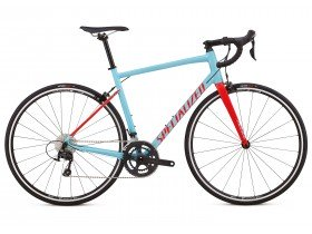 Specialized Allez Elite 2018 Road Bike in light Blue and Red