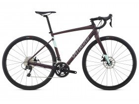 Specialized Diverge E5 Comp 2018 Women's Adventure Road Bike in Berry Purple and Mint Green
