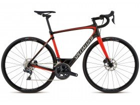 Specialized Roubaix Expert Ultegra DI2 2018 Road Bike in Red and Black