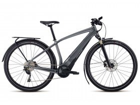 The Specialized Turbo Vado 3.0 2018 Electric Bike in Gloss Satin Dream, Black and Rocket Red