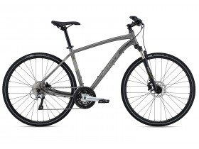 Whyte Caledonian 2019 Hybrid Bike in Matt Zinc, Grey and Lime