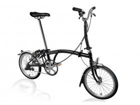 Brompton M3L 2018 Folding Bike in Black