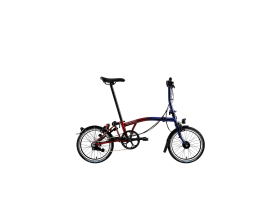 Brompton M6L Nine Streets Edition Folding Bike in 2 -Tone Fusion of Red and Blue Lacquer