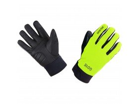 Gore C5 Gore-Tex Thermo Waterproof Gloves in Neon Yellow and Black