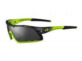 Tifosi Davos Interchange Race Neon Frame with Smoke/AC Red/Clear Lens