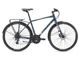 Giant Escape 2 City Disc 2019 Hybrid Bike in Navy Blue