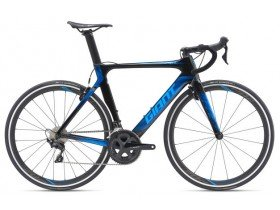 Giant Propel Advanced 2 2019 Road Bike in Gloss Carbon Smoke and Vibrant Blue