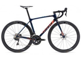 Giant TCR Advanced Pro 2 Disc 2019 Road Bike in Candy Blue
