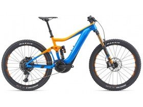 Giant Trance SX E+ 0 Pro 2019 Electric Bike in Orange and Blue