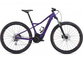 Specialized Women's Turbo Levo Hardtail 29 2019 Electric Mountain Bike in Plum Purple and Acid Lava