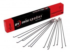 DT Competition DB Stainless Steel Spokes in Black