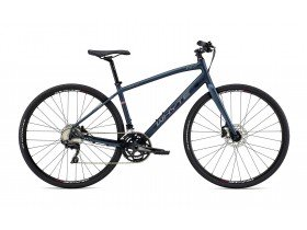 Whyte Stirling 2019 Hybrid Bike in Matt Midnight with Grey and Dark Red