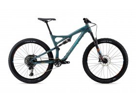 Whyte T-130C R 2018 Trail Mountain Bike in Petrol Green and Orange