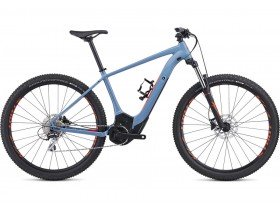 Specialized Turbo Levo Hardtail 29 2019 Electric Mountain Bike in Storm Grey and Rocket Red