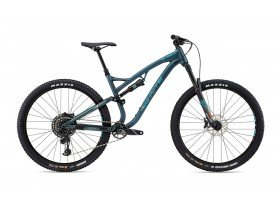 Whyte S-150 S 2019 Trail Mountain Bike in Petrol, Reef, Orange and Sky