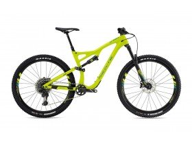 Whyte S-150C Works 2019 Trail Mountain Bike in Matt Lime with Eucalyptus and Olive